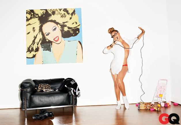 Beyonce gq mag singing