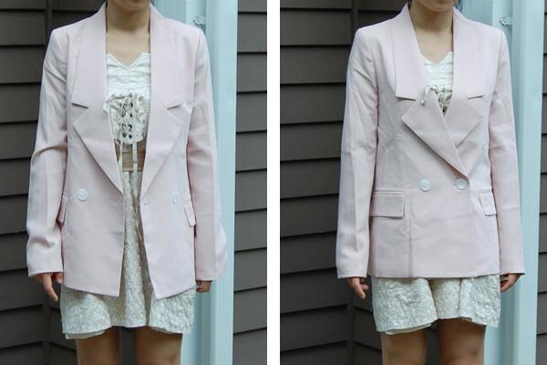 Wear It Five Ways : Oversized Pink Blazer