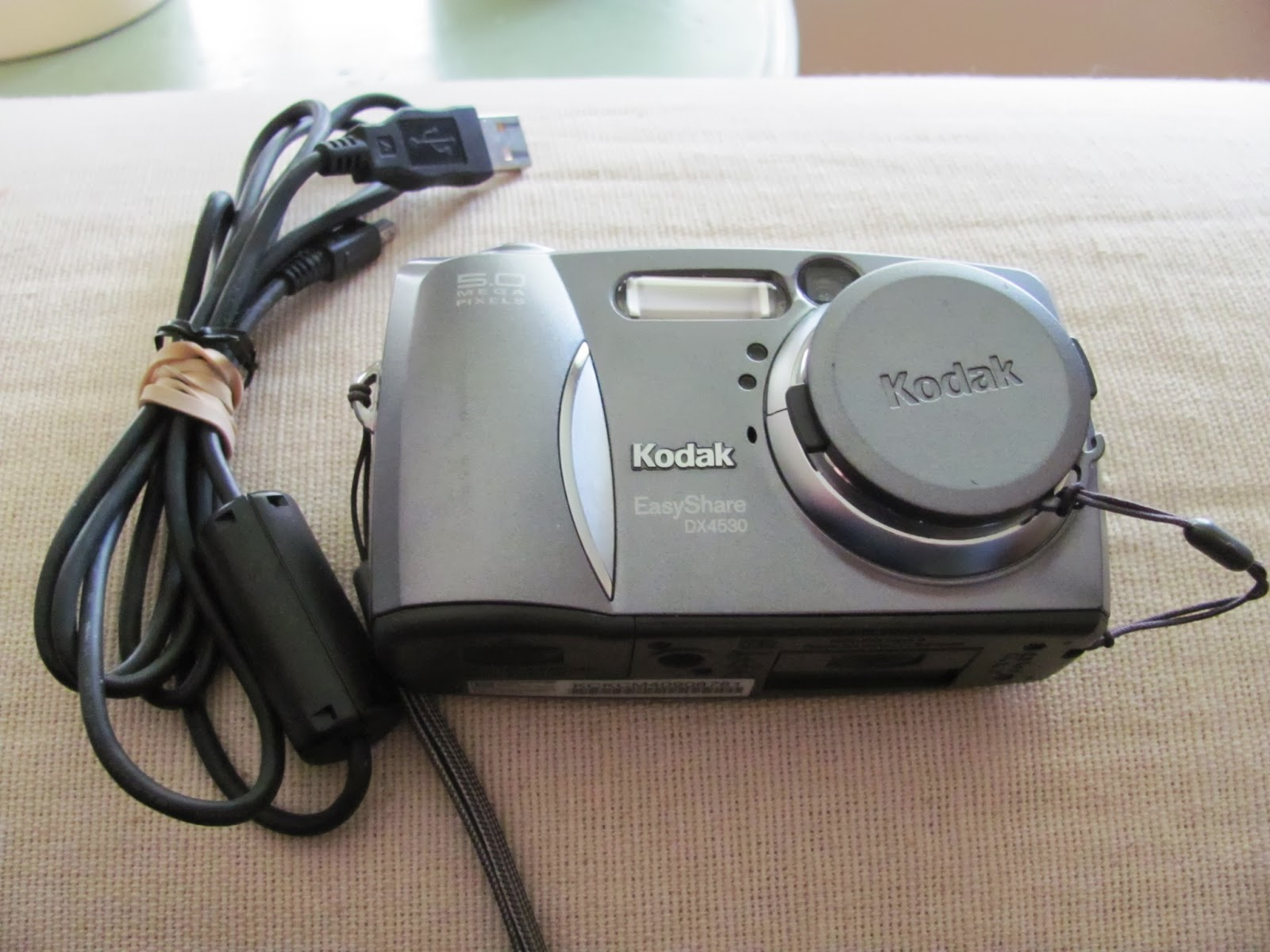 Our old Kodak digital camera on display before being sold on Craigslist