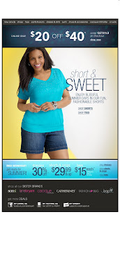 Click to view this June 10, 2011 Lane Bryant email full-sized