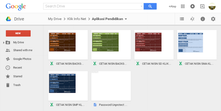 Aplikasi Cetak Kartu NISN dengan Microsoft Excel  untuk Terbaru 2015 Download Gratis di Google Drive