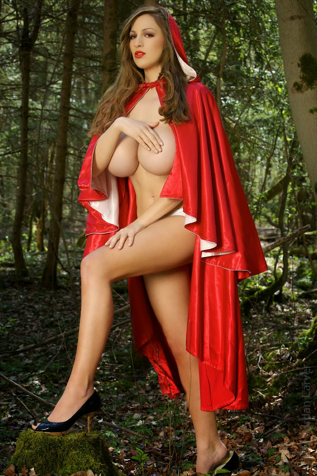hood nude riding Sexy little red