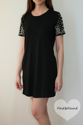 Embellished Sleeve Dress - FindnFound