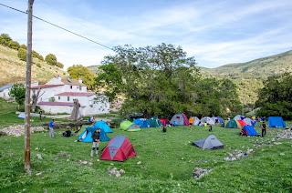 Acampada junto al cortijo de la Fresnadilla