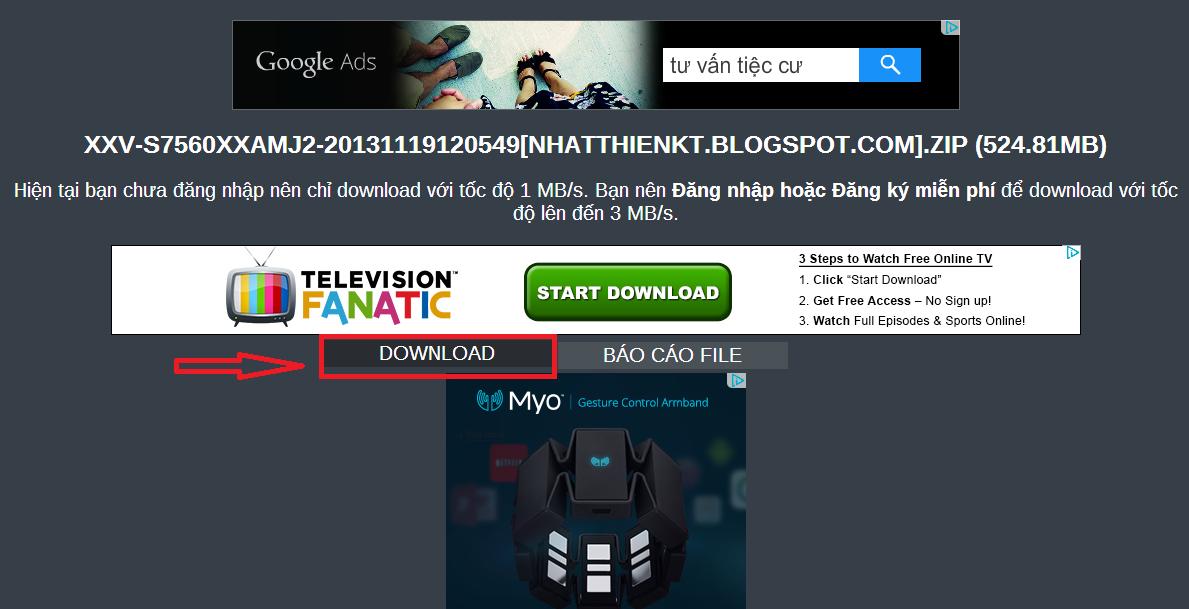 Mẹo tránh bấm vào các nút quảng cáo trên các trang chia sẻ phần mềm download