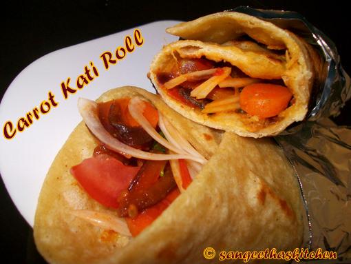 Carrot Kati Roll
