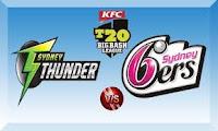 Watch Big Bash League Twenty20 BBL T20 Live Streaming Sydney Thunder vs Sydney Sixers Dec 17 Online Free.