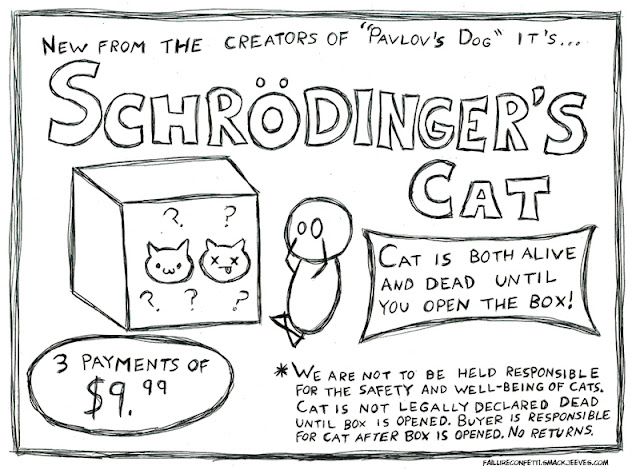 Schrödinger's Cat - Order while supplies last! (Note, we are not responsible for the safety and well-being of cats.)