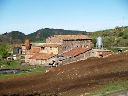 El mas Bellver des de l'ermita de Sant Cugat de Gavadons