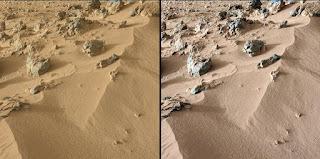 Место взятия пробы грунта марсоходом Curiosity
