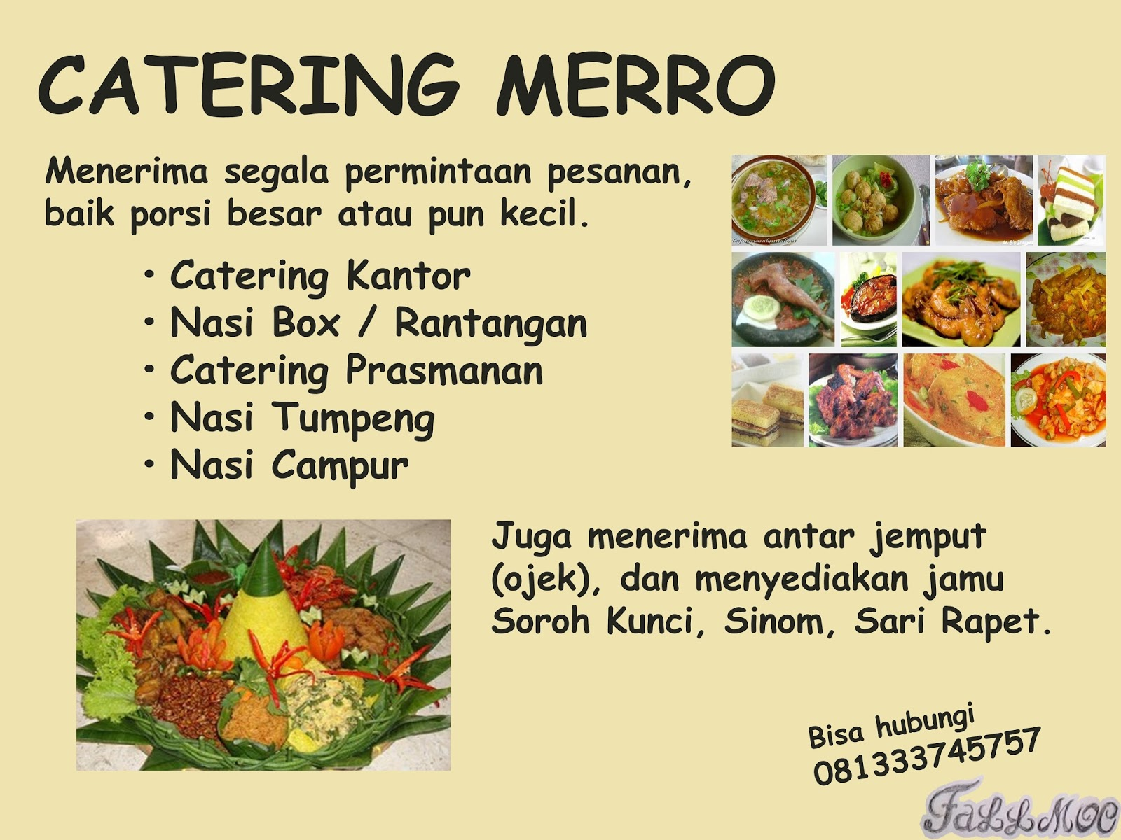 Contoh Banner: Banner Catering