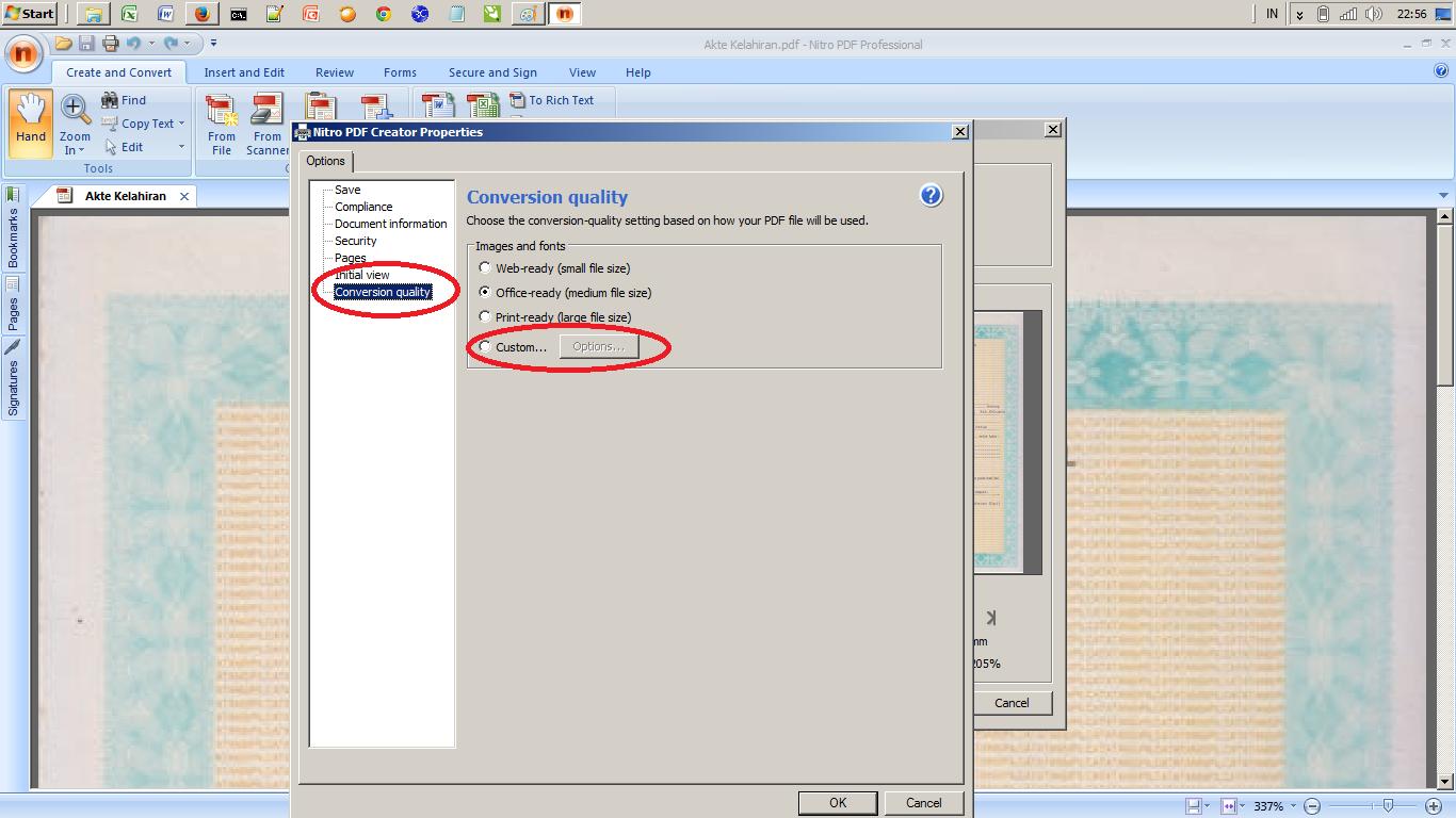 how to resize pdf file nitro