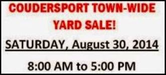 8-30 Coudersport Town Wide Yard Sale