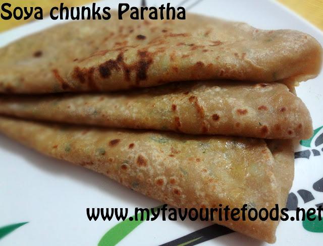Soya chunks Paratha