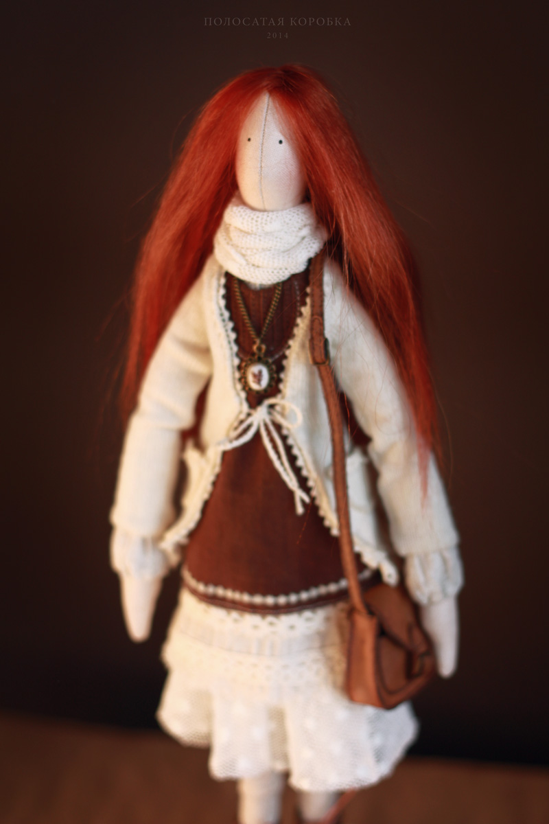 Рыжая бохо кукла
