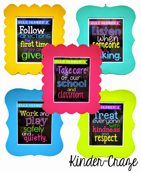 love these bold and bright classroom rules