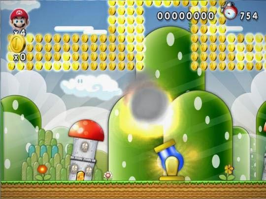 لعبة الاكشن الخفيفة ماريو New Super Mario Forever 2015