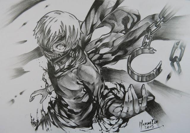 Art painting drawing tips and tutorials drawing ken kaneki from