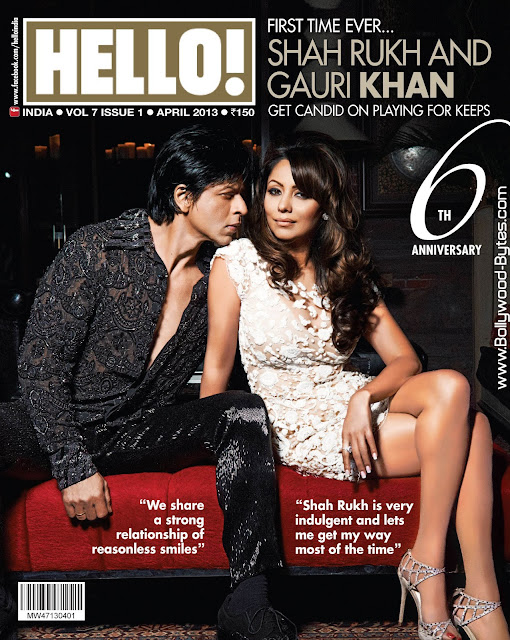 Shahrukh Khan and Gauri Khan on Cover HELLO! April