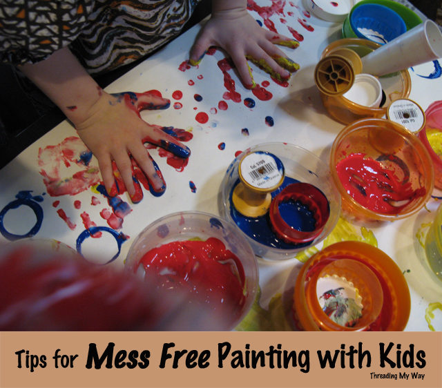 Threading My Way: Tips for Mess Free Painting with Kids...
