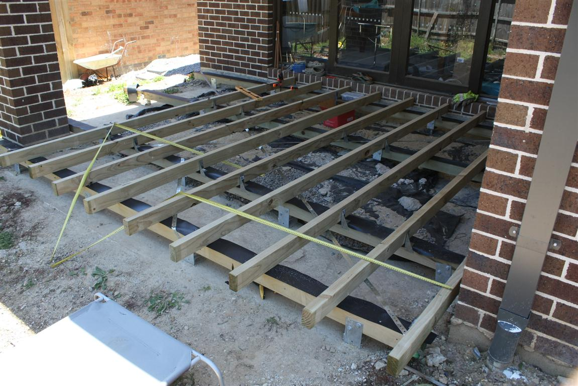 Tim tina 39 s new home building blog redevelopment in for Balcony joists