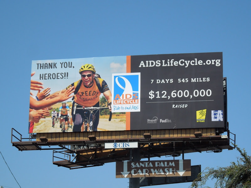 AIDS LifeCycle Thank you Heroes billboard