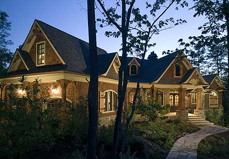 Luxury house stunning rustic craftsman home plan house for Large craftsman style home plans