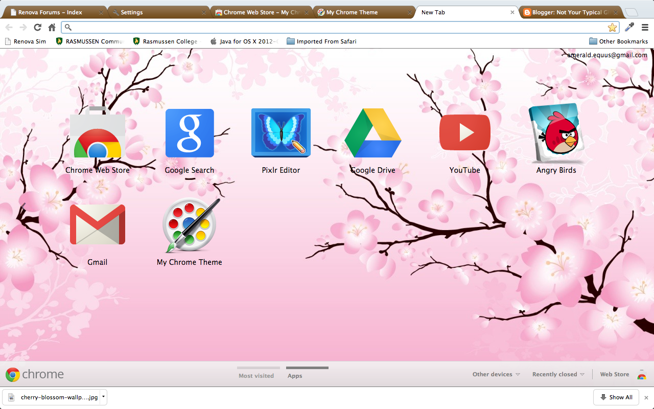 Google themes chrome - Google Chrome Theme Sakura Dreams