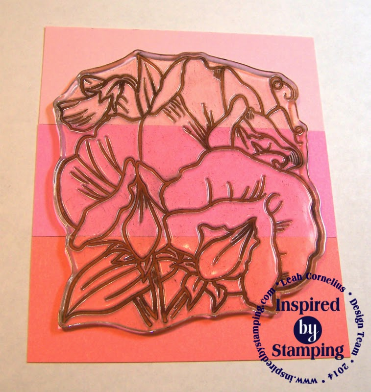 Inspired by Stamping, Leah Cornelius, Color Blocking Tutorial, Sweet Peas Stamp Set