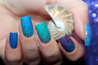 Blue Water Decals Nail Art