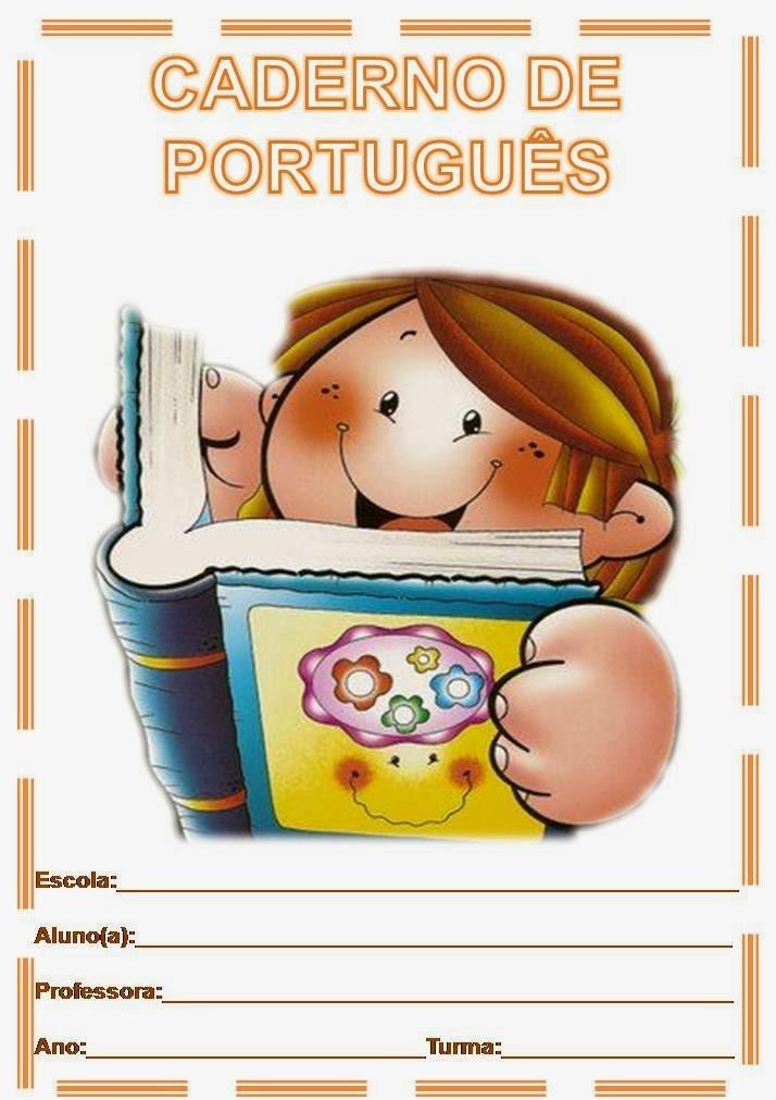 Capa de Caderno Colorido Para Imprimir Português