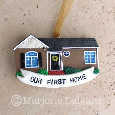 Custom Polymer Clay House Ornament | livingwiththreemoonbabies.blogspot.com