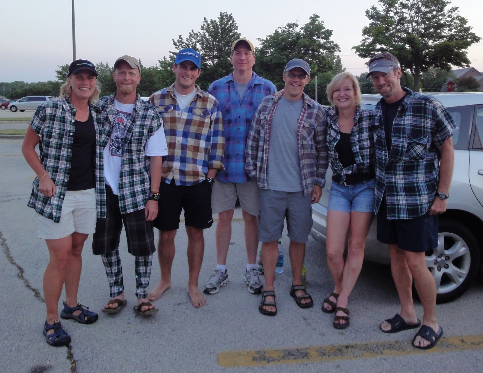 Lapham peak trail runners the running and cheering of the for Athletic cut flannel shirts