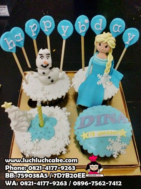 Cupcake Frozen dan Olaf Daerah Surabaya - Sidoarjo