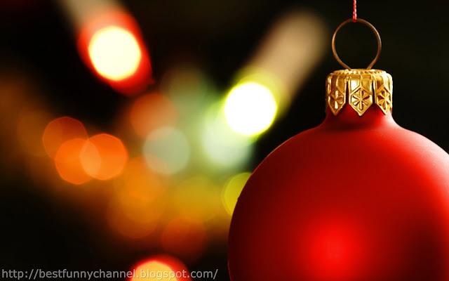 Beautiful red Christmas ball.