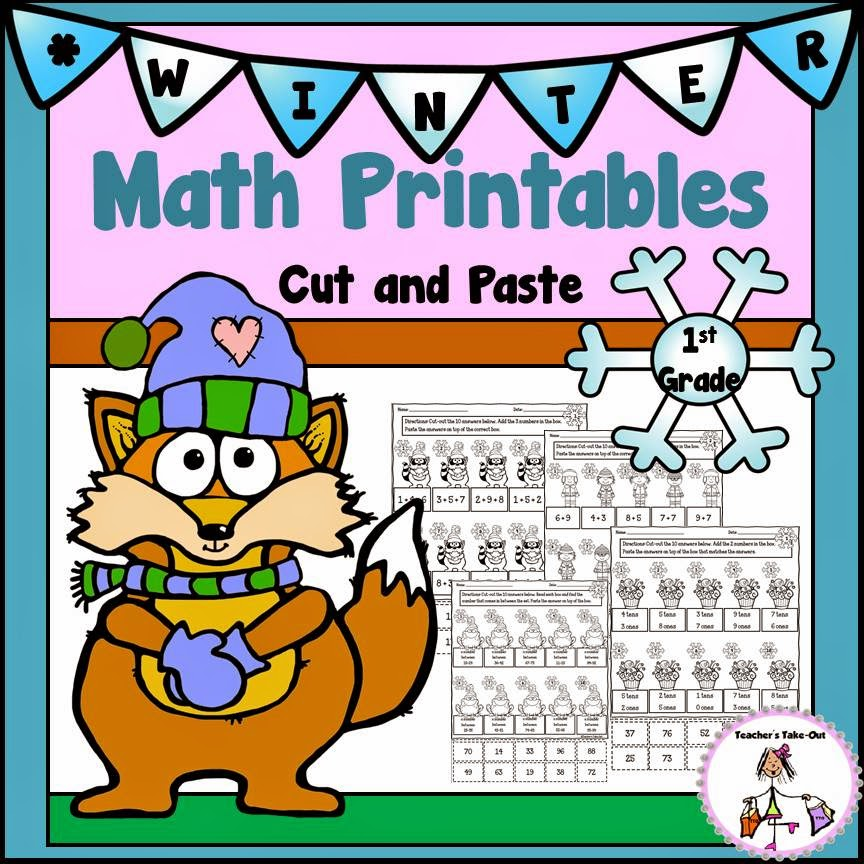 Winter Printables for Math