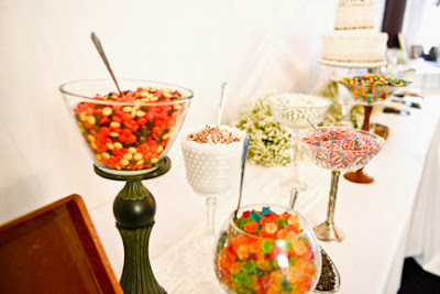 Wedding frozen yogurt bar