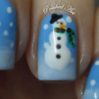 Christmas-nail-art-snow-snowman
