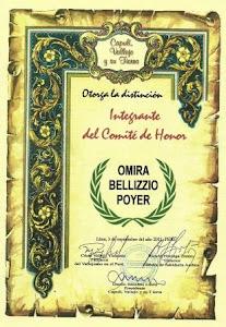 Integrante del Comité de Honor del Movimiento Cultural Capulí, Vallejo y su Tierra