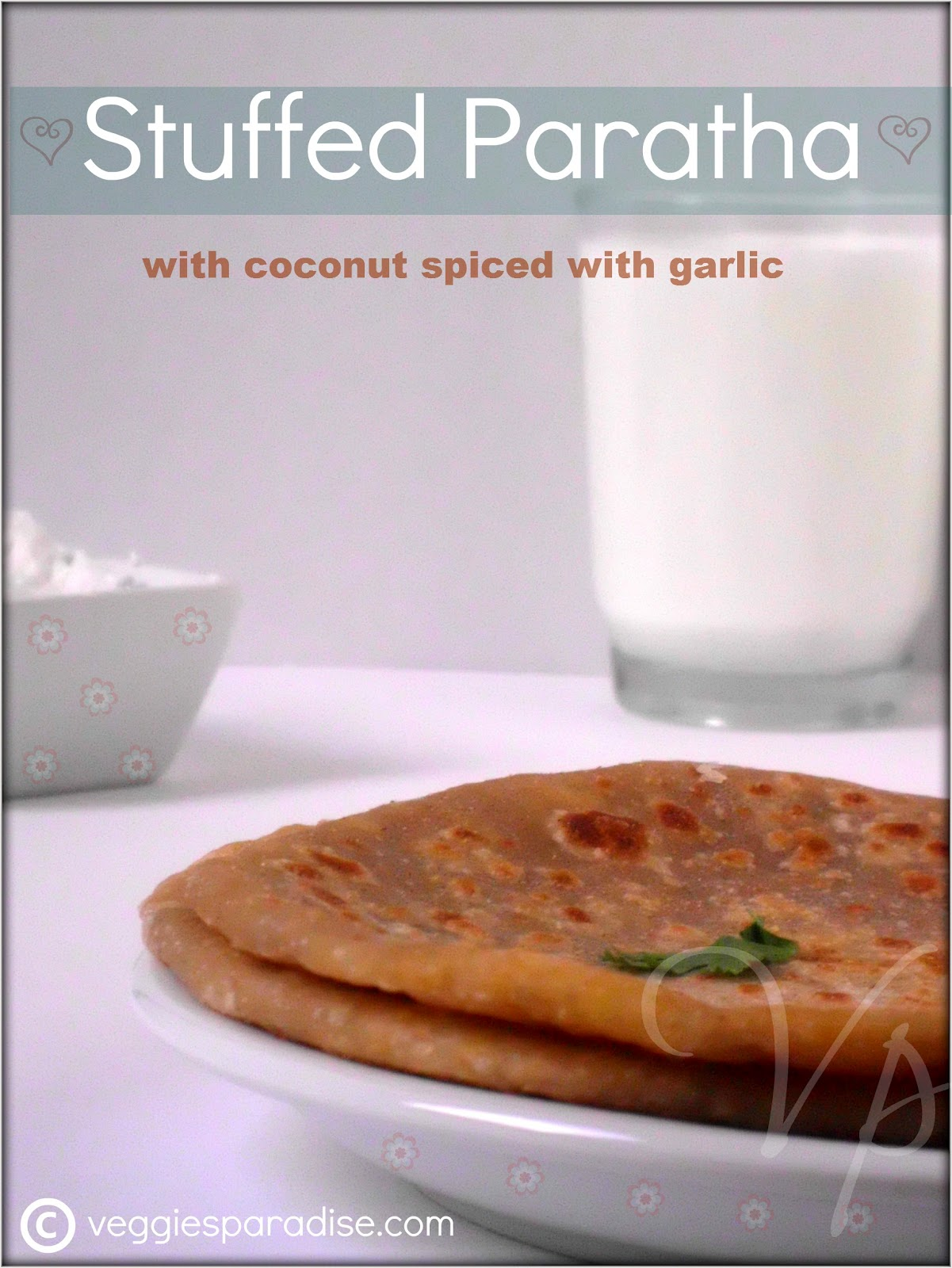 STUFFED PARATHA - COCONUT STUFFED PARATHA | PARATHA STUFFED WITH ...
