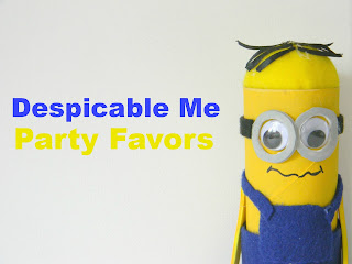 How to make Despicable Me Minion party favors