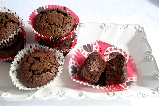 Muffin al gianduia dl cuore morbido
