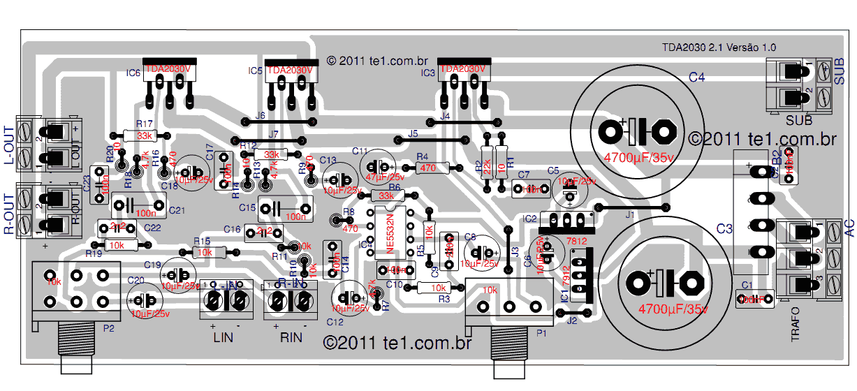 jl audio wiring diagram jl automotive wiring diagrams power amplifier tda2030 2 1 subwoofer component side description power amplifier tda2030 2 1 subwoofer component side jl audio wiring diagram