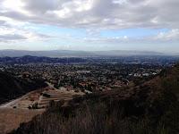 View southwest toward Glendora from Mystic Canyon Trail