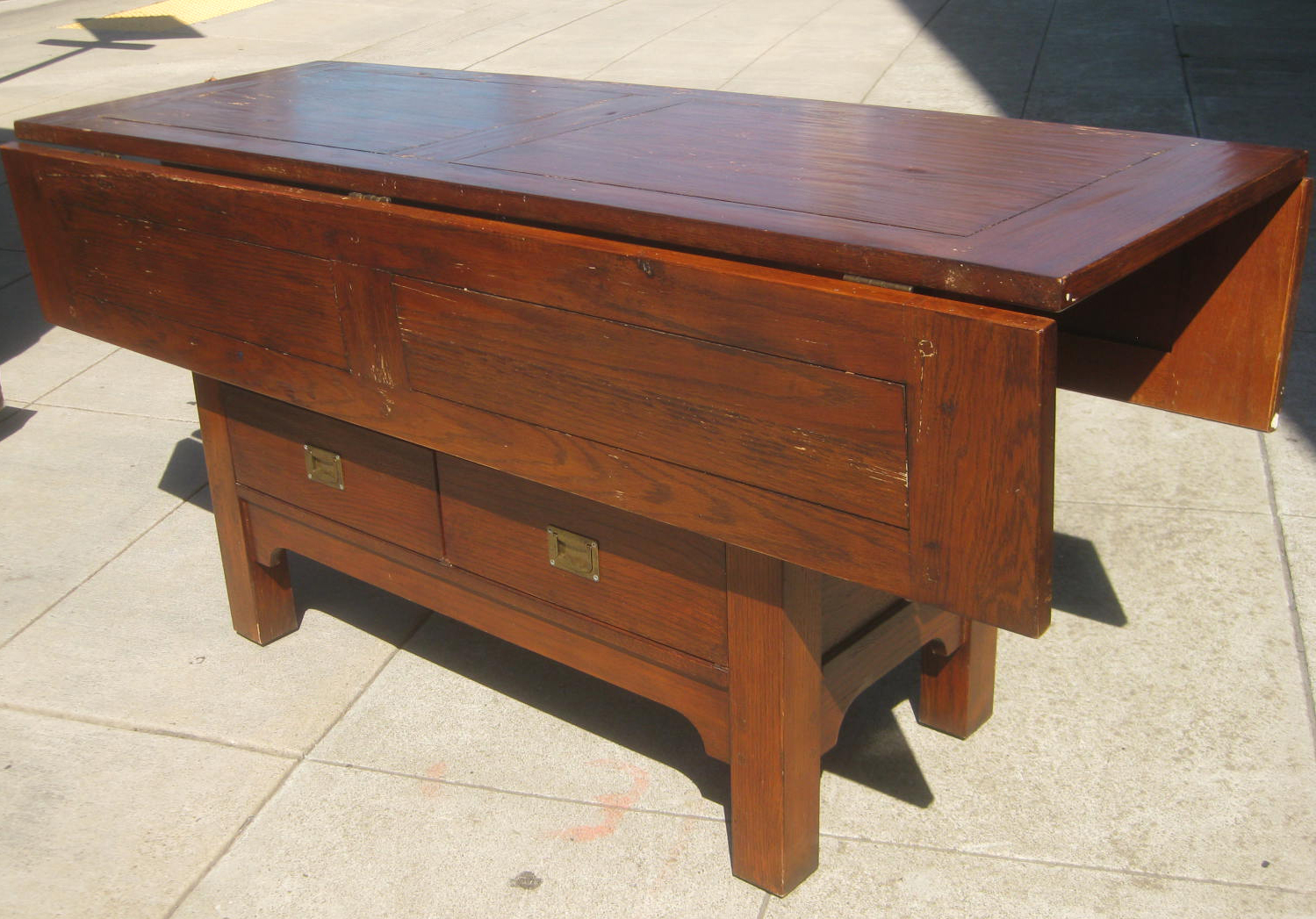 Uhuru furniture collectibles sold country kitchen drop leaf table 225 - Drop leaf kitchen table ...