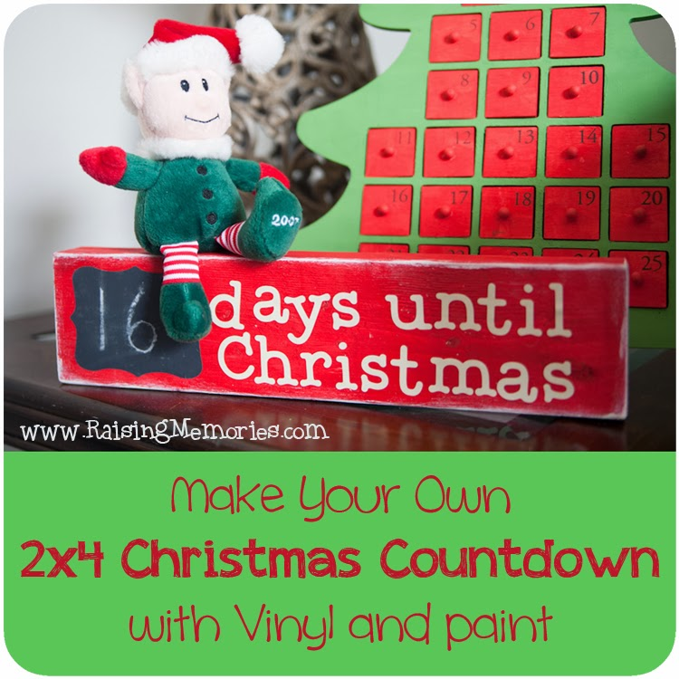 Make Your own Chalkboard Christmas Countdown at www.RaisingMemories.com
