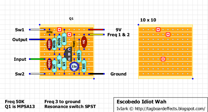 Escobedo Idiot Wah on tremolo circuit schematic