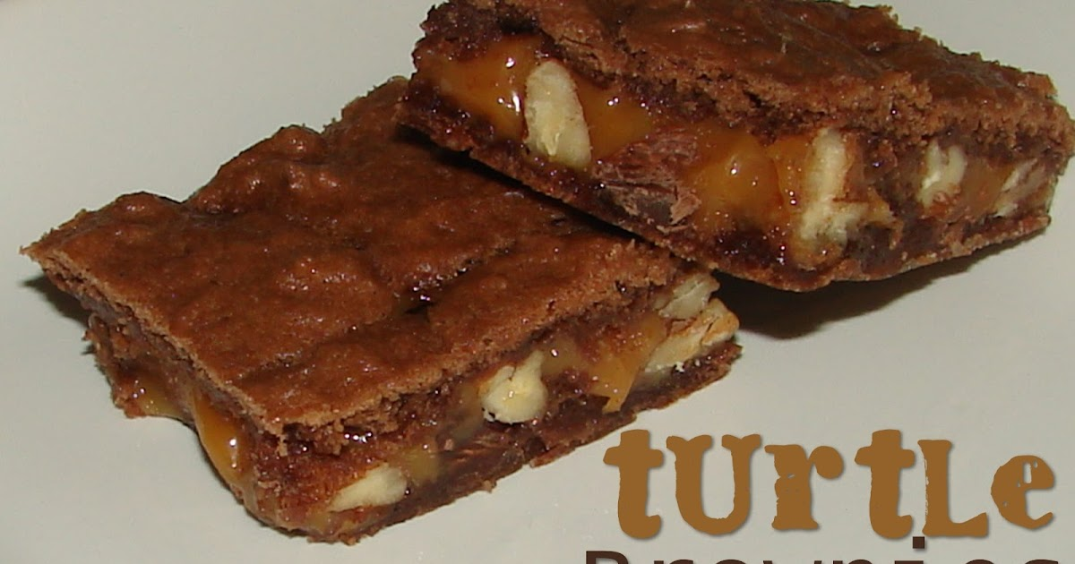 Turtle Brownies From German Chocolate Cake Mix