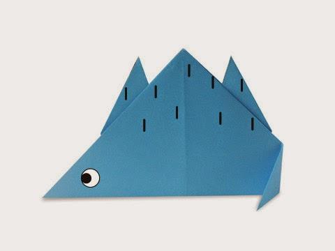 Hướng dẫn cách gấp con khủng long phiến sừng Stegosaur bằng giấy đơn giản - Xếp hình Origami với Video clip