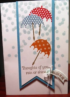 rain or shine with zena kennedy independent stampin up demonstrator